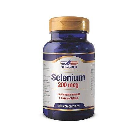 Selênio 200mcg VitGold Suplemento Vitamina C 100 Comp