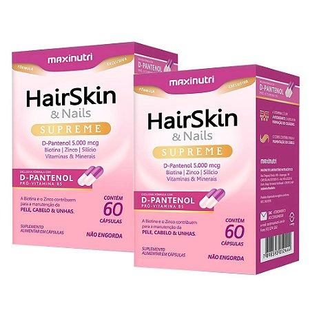 Kit Hair Skin & Nails Supreme Maxinutri Vitamina 120 Cápsulas
