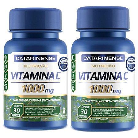 Vitamina C 1000mg - 2 unidades de 30 Comprimidos - Catarinense
