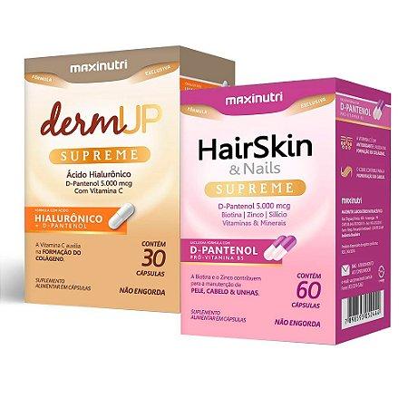 Hair Skin Supreme 60 cápsulas + Derm Up Supreme 30 cápsulas - Maxinutri
