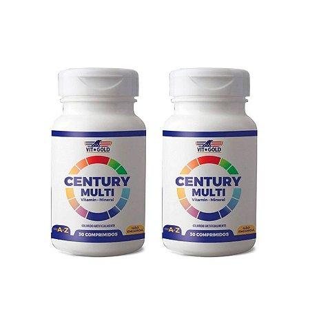 Polivitamínico Century Multi - 2 unidades de 30 Comprimidos - VitGold