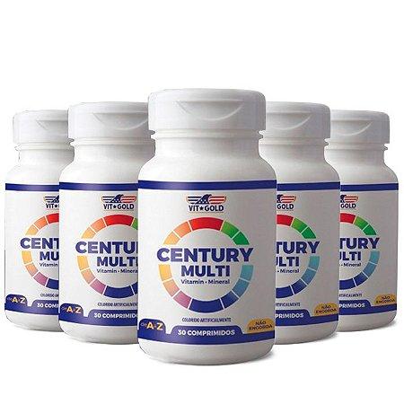 Polivitamínico Century Multi - 5 unidades de 30 Comprimidos - VitGold