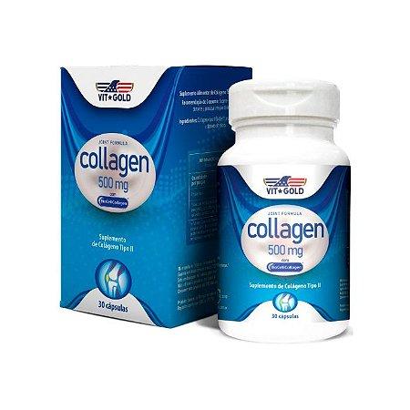Colágeno Tipo II Biocell VitGold Suplemento 30 Cápsulas