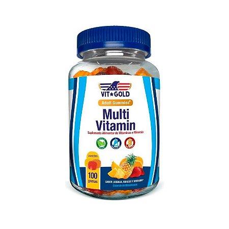 Multivitamínico Gummies - 100 Gomas Sortidas - VitGold