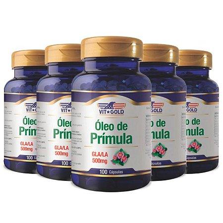 Óleo de Prímula GLA/LA - 5 unidades de 100 Cápsulas - VitGold