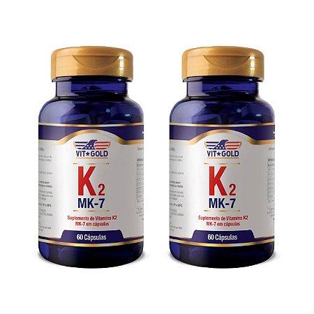 Vitamina K2 - 2 unidades de 60 Cápsulas - VitGold