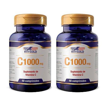 Vitamina C 1000mg - 2 unidades de 60 Comprimidos - VitGold