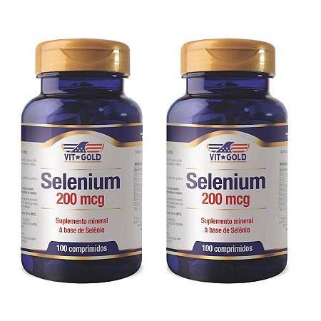 Selênio 200mcg - 2 unidades de 100 Comprimidos - VitGold