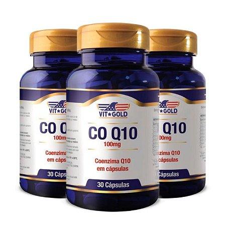 Coenzima Q10 100mg - 3 unidades de 30 Cápsulas - VitGold