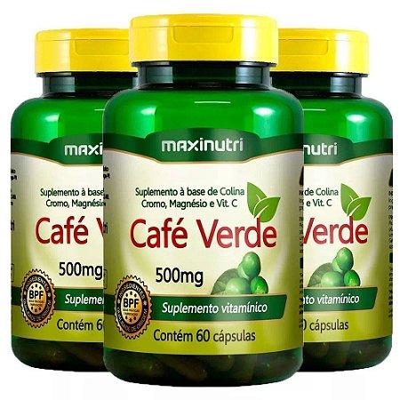 Kit Café Verde Em Cápsulas Maxinutri Suplemento 180 Cáps
