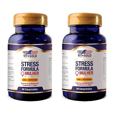 KitStress Formula Mulher VitGold Suplemento 120 Comprimidos