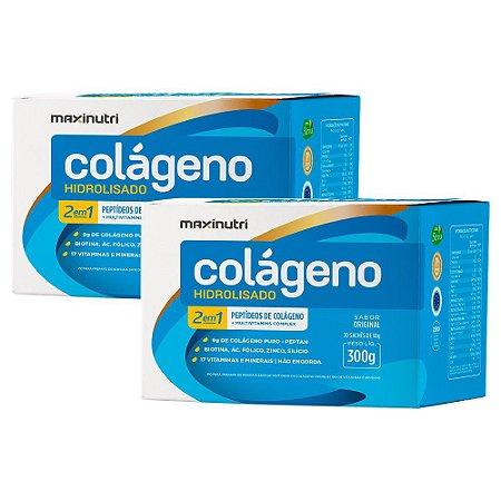 Kit Colágeno Hidrolisado 2 Em 1 Maxinutri 60 Sachês De 10g