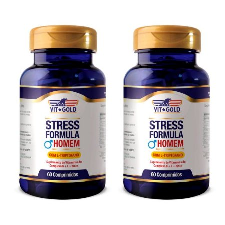 KitStress Formula Homem VitGold Suplemento 120 Comprimidos