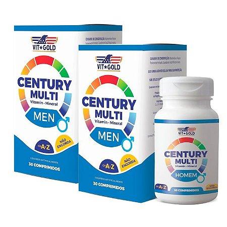 Multivitamínico Century Homem - 2 unidades de 30 Comprimidos - VitGold