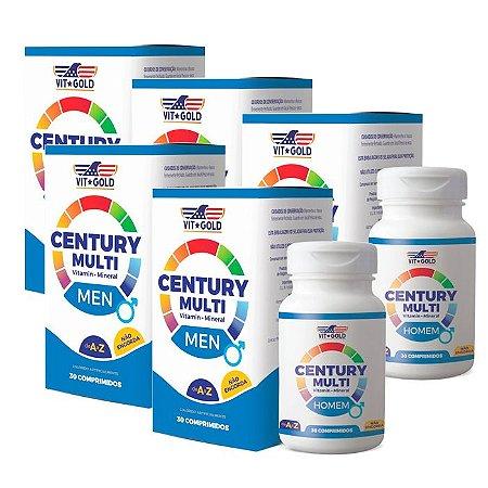Multivitamínico Century Homem - 5 unidades de 30 Comprimidos - VitGold
