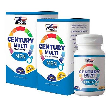 Multivitamínico Century Homem - 2 unidades de 60 Comprimidos - VitGold