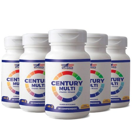 Multivitamínico Century Senior Homem - 5 unidades de 30 Comprimidos - VitGold