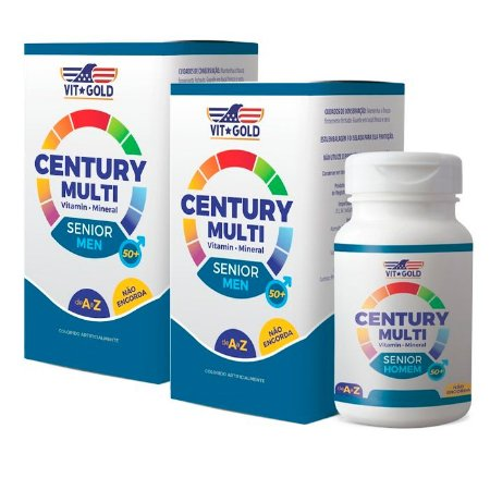 Multivitamínico Century Senior Homem - 2 unidades de 60 Comprimidos - VitGold