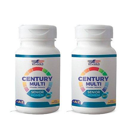 Multivitamínico Century Senior Homem - 2 unidades 90 Comprimidos - VitGold