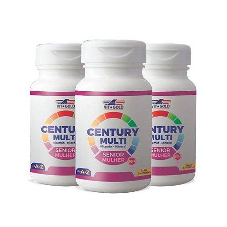 Multivitamínico Century Senior Mulher - 3 unidades de 90 Comprimidos - VitGold