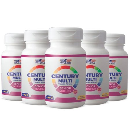 Multivitamínico Century Senior Mulher -5 unidades de 90 Comprimidos - VitGold