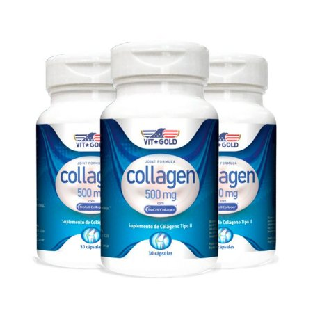 Colágeno Tipo II - 3 unidades de 30 Cápsulas - VitGold