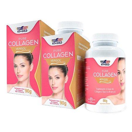 Pure Collagen Verisol em Pó - 2 unidades de 90 Gramas - VitGold