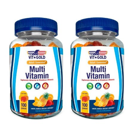 Multivitamínico Gummies - 2 unidades de 100 Gomas Sortidas - VitGold