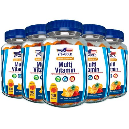 Kit Multivitamínico Gummies VitGold 500 Gomas Sortidas