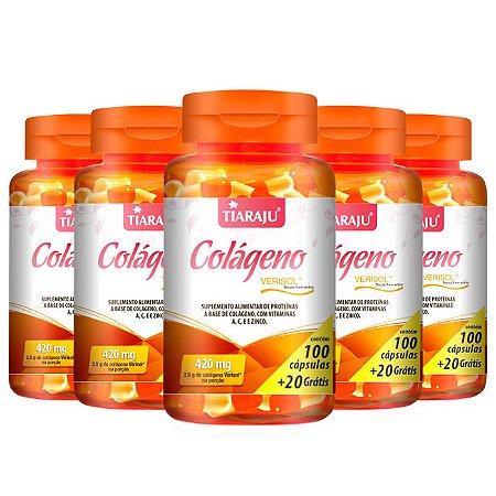 Colágeno Verisol - 5 unidades de 100 Cápsulas - Tiaraju