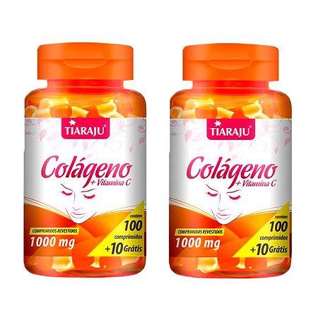 Colágeno com Vitamina C 1000mg - 2 unidades de 100 Comprimidos - Tiaraju