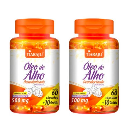 Óleo de Alho Desodorizado - 2 unidades de 60 cápsulas - Tiaraju