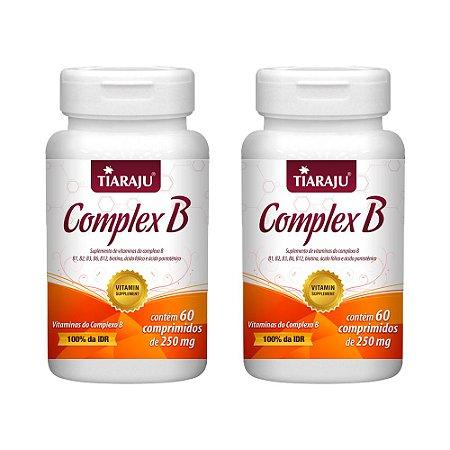 Vitaminas do Complexo B - 2 unidades de 60 Comprimidos - Tiaraju