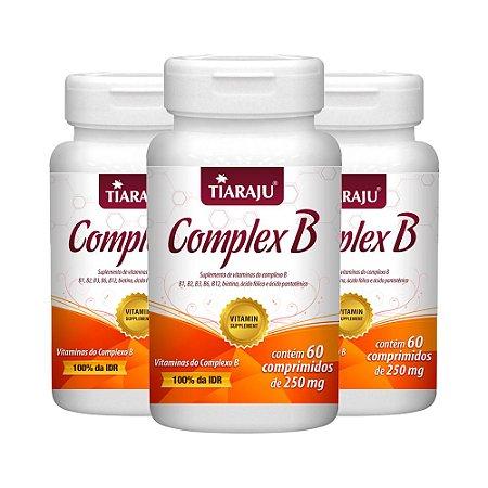 Vitaminas do Complexo B - 3 unidades de 60 Comprimidos - Tiaraju