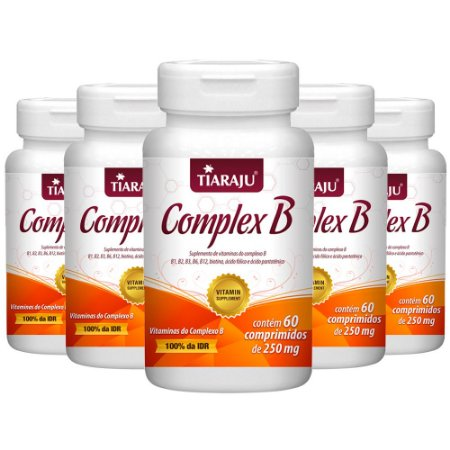 Vitaminas do Complexo B - 5 unidades de 60 Comprimidos - Tiaraju