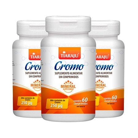 Picolinato de Cromo 250mcg - 3 unidades de 60 Comprimidos - Tiaraju