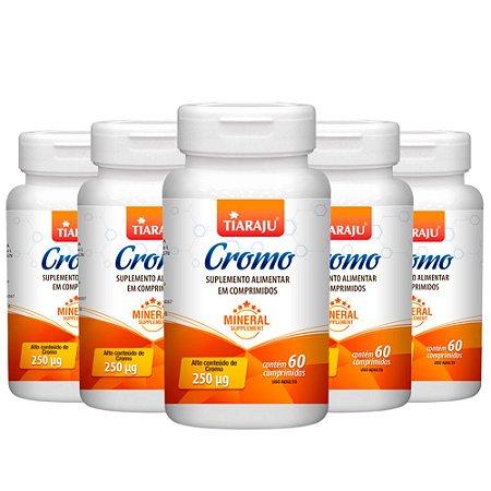 Picolinato de Cromo 250mcg - 5 unidades de 60 Comprimidos - Tiaraju