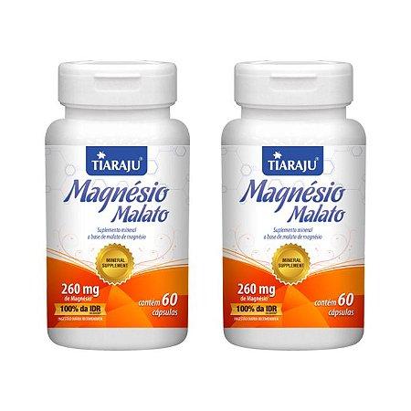 Kit Magnésio Malato Tiaraju Ácido Málico Vitam B1 120 Cáps