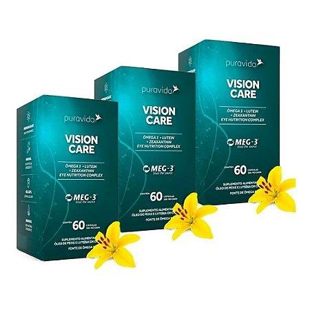 Vision Care - 3 unidades de 60 Cápsulas - Puravida