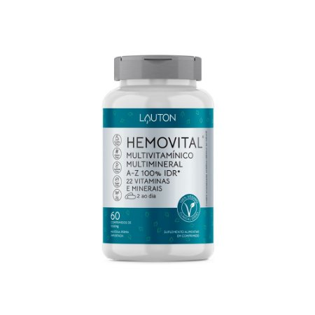 Multivitamínico Hemovital - 60 Comprimidos - Lauton