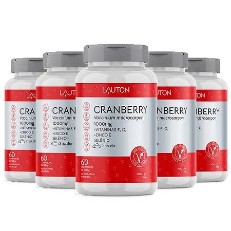 Kit Cranberry Premium Lauton Oxicoco Vitam C 300 Comprimidos