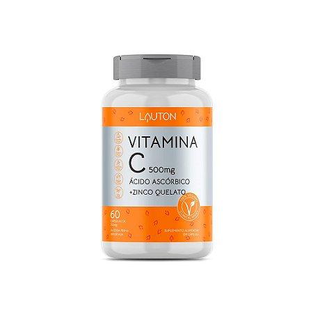 Vitamina C com Zinco Lauton Antioxidante 60 Cápsulas