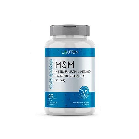 MSM Enxofre Orgânico - 60 Cápsulas - Lauton