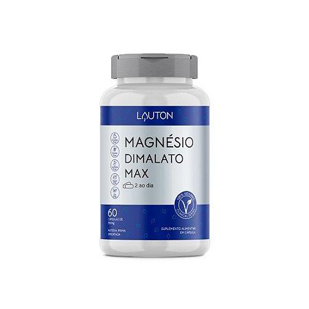 Magnésio Dimalato Max Lauton Suplemento 60 Cápsulas