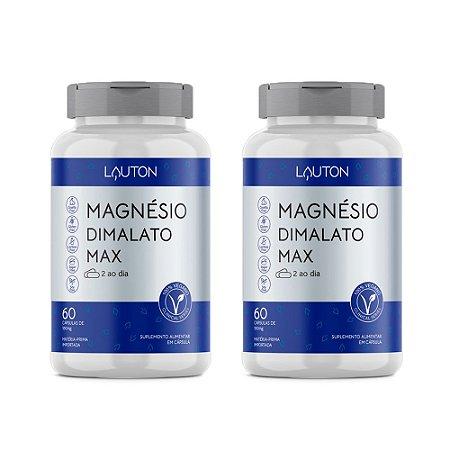 Magnésio Dimalato Max - 2 unidades de 60 Cápsulas - Lauton