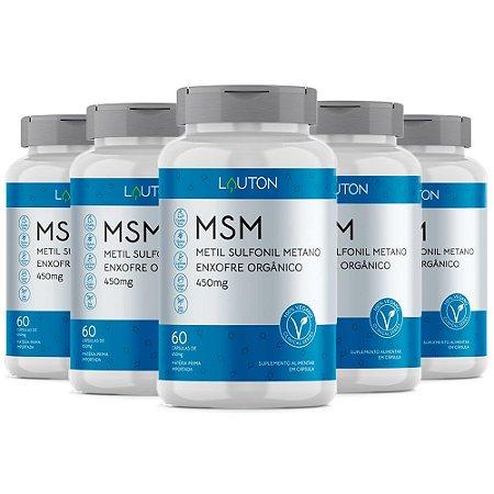 MSM Enxofre Orgânico - 5 unidades de 60 Cápsulas - Lauton