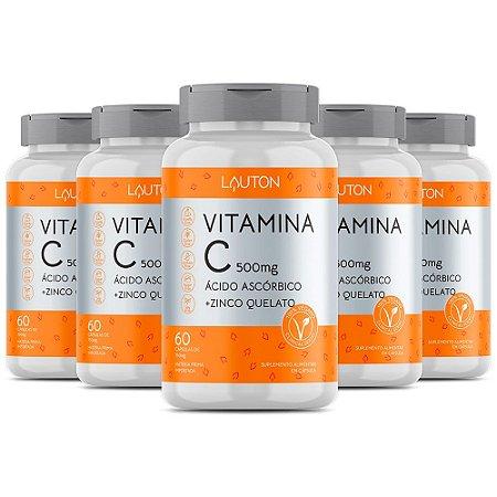 Kit Vitamina C com Zinco Lauton Antioxidante 300 Cápsulas