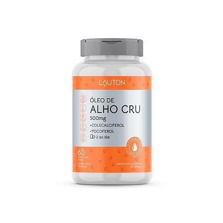 Óleo De Alho Cru Em Cápsulas Com Vitaminas Lauton 60 Cáps