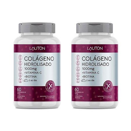 Colágeno com Vitamina C e Biotina - 2 unidades de 60 Comprimidos - Lauton