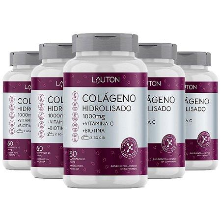 Kit Colágeno Hidrolisado Vitamina C Biotina Lauton 300 Comp